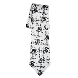 Black Bianco Carnation Necktie