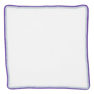 White Wall Street With Lilac Purple Signature Border