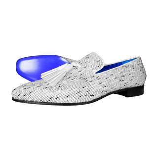 White Tweed Legare Tassel Loafer