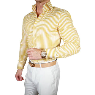 S by Sebastian Mustard Awning Poplin Dress Shirt