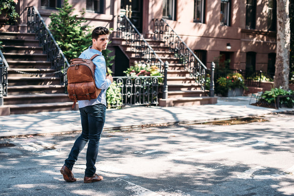 The Lewis Leather Backpack
