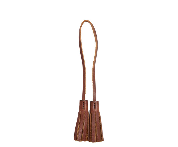 Chocolate Hover Leather tassel keeper