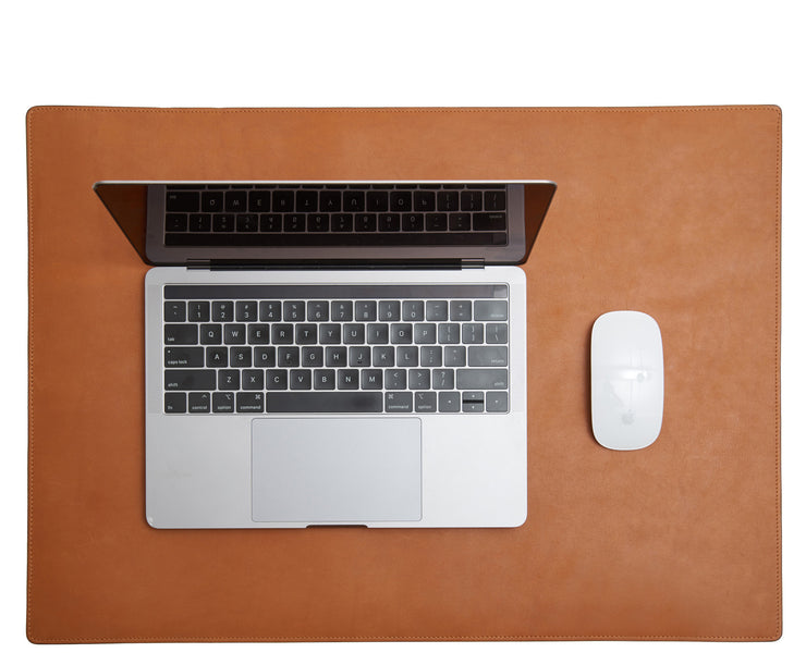 Tan Hover Leather desk pad