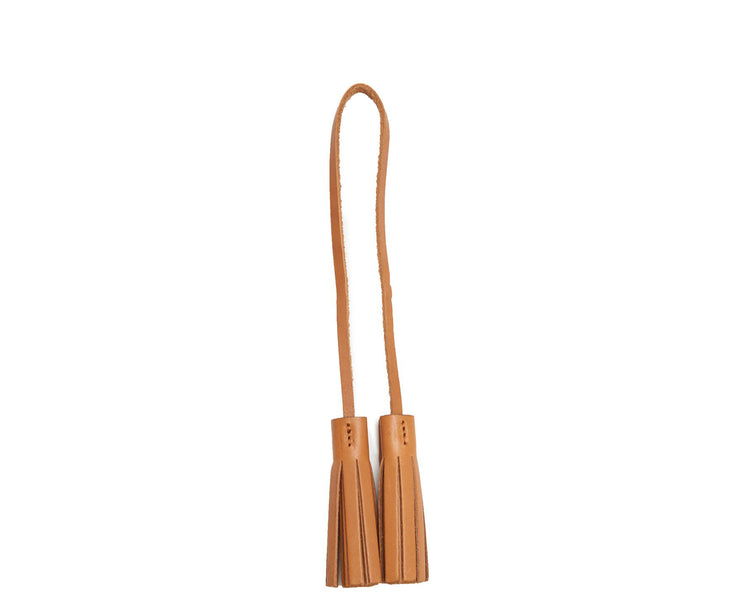Tan Hover Leather tassel keeper