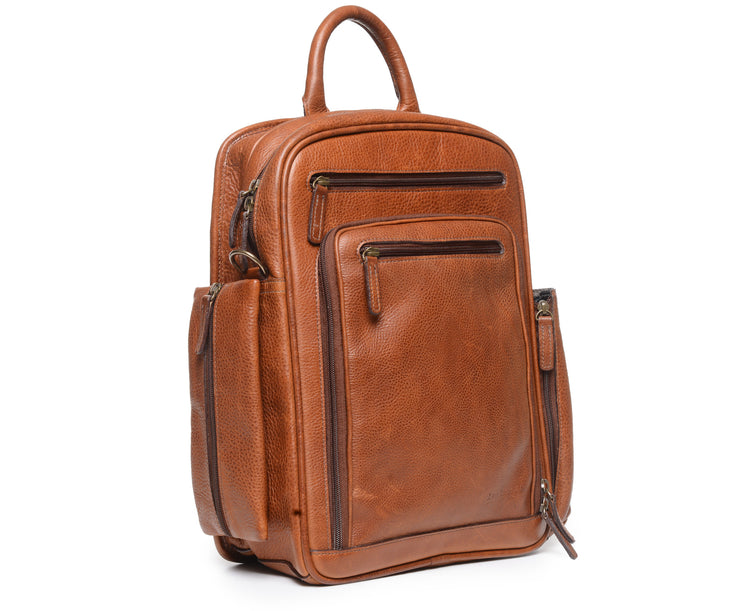 Brown Hover Leather Commuter Backpack