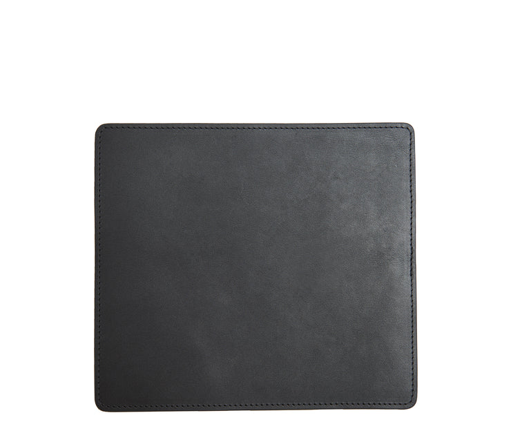 Black Leather mouse pad The Mead is a smooth American full-grain leather mouse pad backed with a non-skid durable rubber mat.