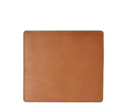 Tan Leather mouse pad The Mead is a smooth American full-grain leather mouse pad backed with a non-skid durable rubber mat.