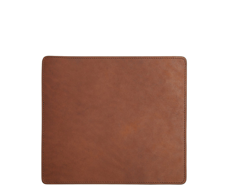 Espresso Leather mouse pad The Mead is a smooth American full-grain leather mouse pad backed with a non-skid durable rubber mat.