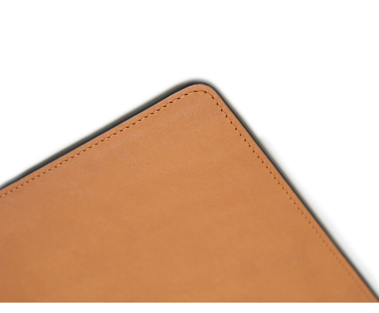 Tan Hover Leather rectangular placemat