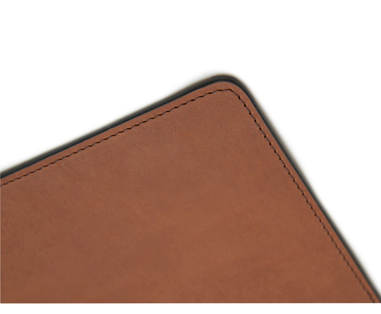 Espresso Hover Leather rectangular placemat