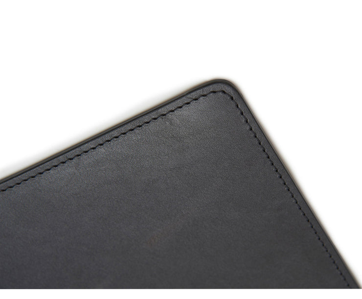 Black Hover Leather rectangular placemat