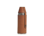 Espresso hover Leather bottle flask