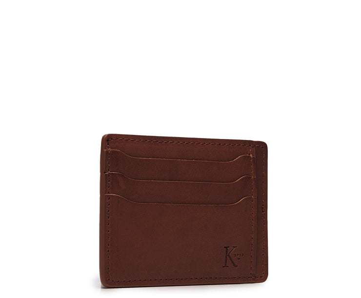Brown Hover Slim leather wallet