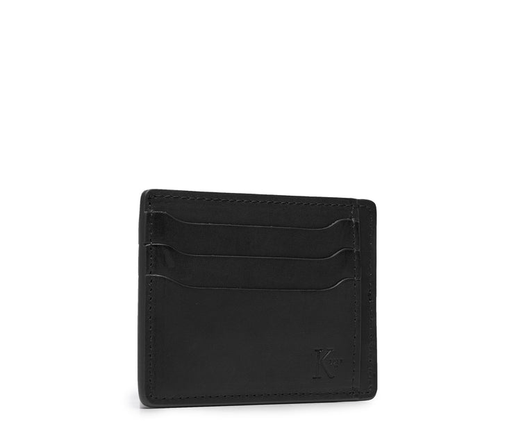 Black Hover Slim leather wallet