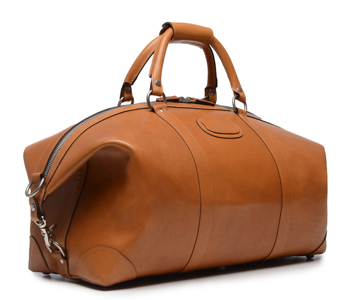 "Tan Hover 22"" Leather Weekender"