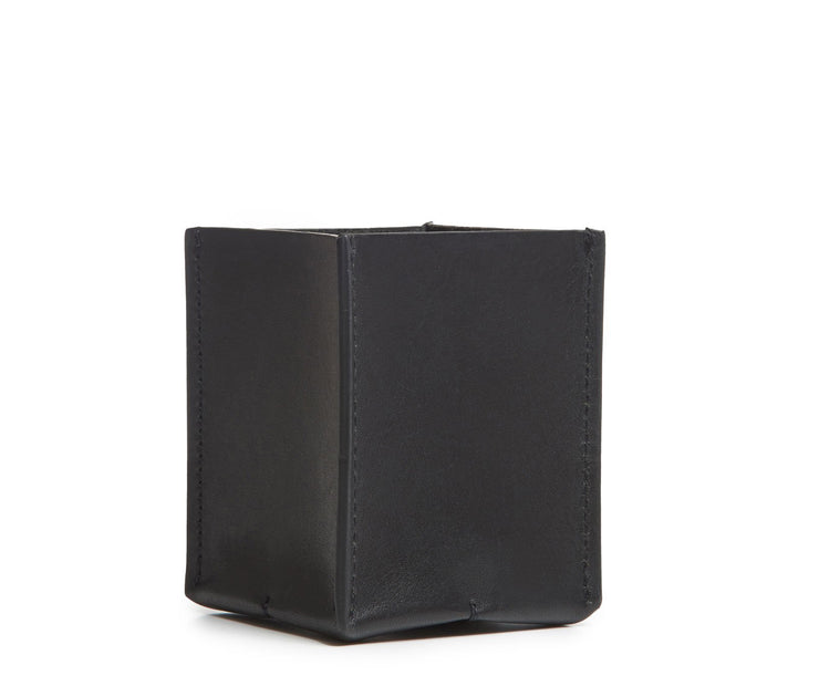 Black Hover Leather pencil cup