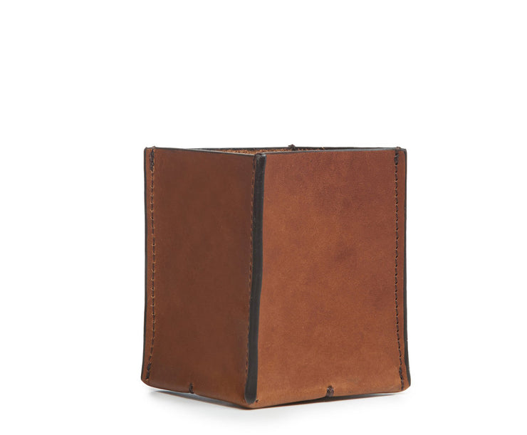Brown Hover Leather pencil cup