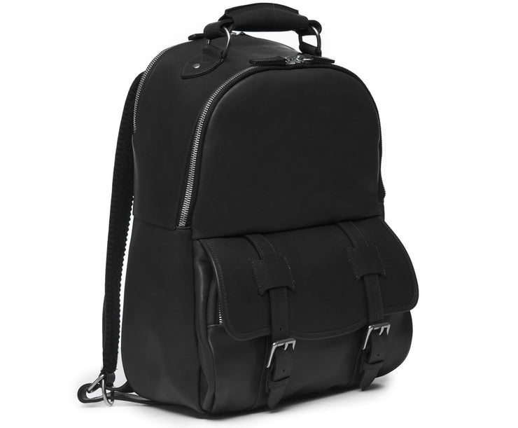 Black Hover Classic Leather Backpack