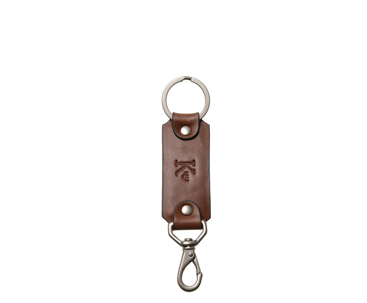Brown Leather Swivel Hook Key Chain