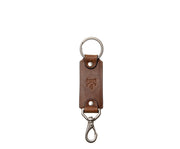 Espresso Leather Swivel Hook Key Chain