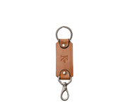 Tan Leather Swivel Hook Key Chain