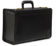Black Hover Leather Locking Catalog Case