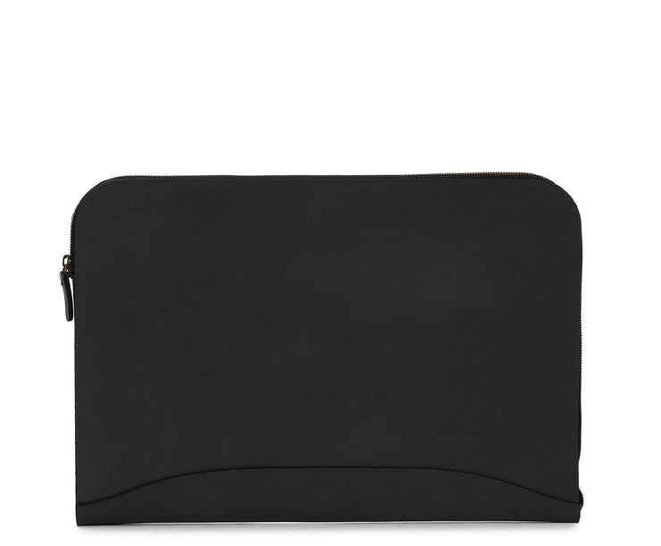 Black Zippered Leather Envelope The Grant leather envelope is handcrafted with rich oil-tanned leather, and is designed to protect papers and files.