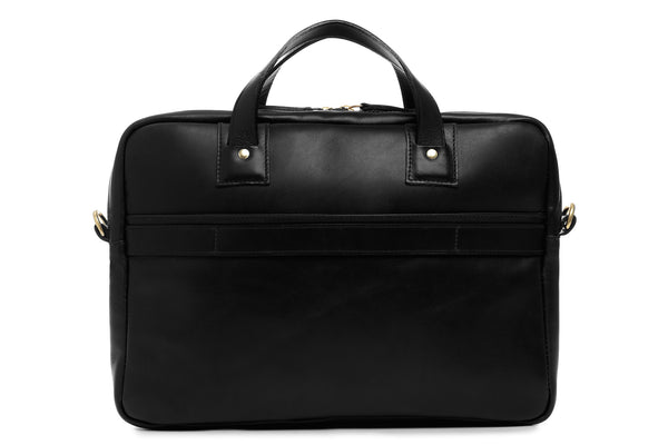 korchmar full grain leather slim briefcase fits most 13 laptops