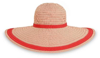 SUN FLORENCE HAT O/S RED STRIP