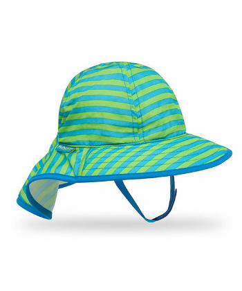 SUN INFANT SUNSPROUT HAT BLUE/GREEN STRIPE
