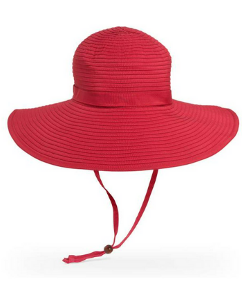 SUN BEACH RIBBON HAT RED