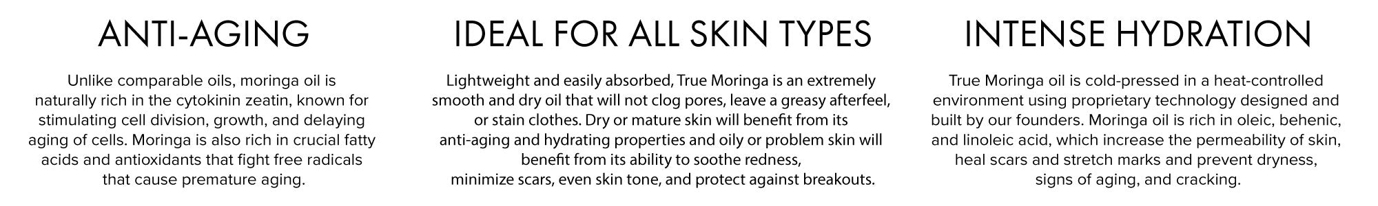 true moringa oil products clean beauty