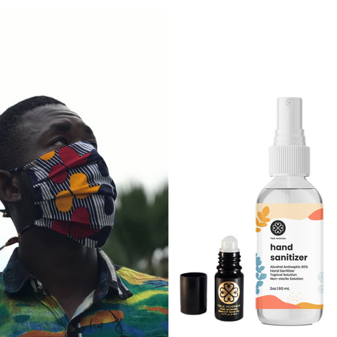 Moringa · Mask · Sanitizer Bundle - True Moringa