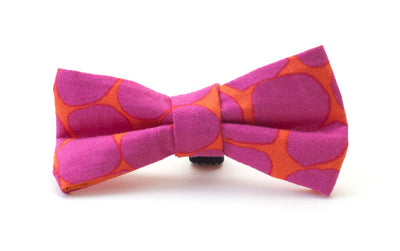 fuchsia and orange colourful fabric dog bow