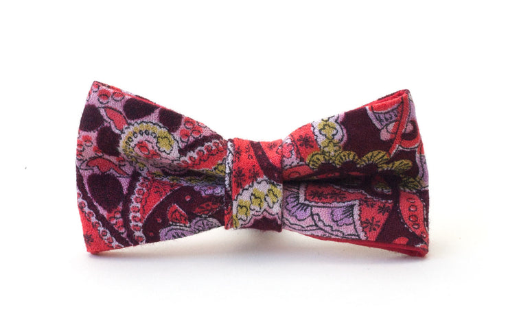 Funky red and pink dog bow