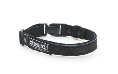 green and black camo soft neoprene dog collar