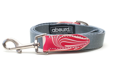 Candy Cane red and white dog lead leash