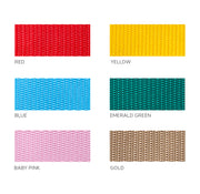 choice of six bright polypropylene webbing colours