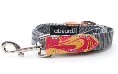 "2.5cm (1"") Lead/Leash: Firecracker"