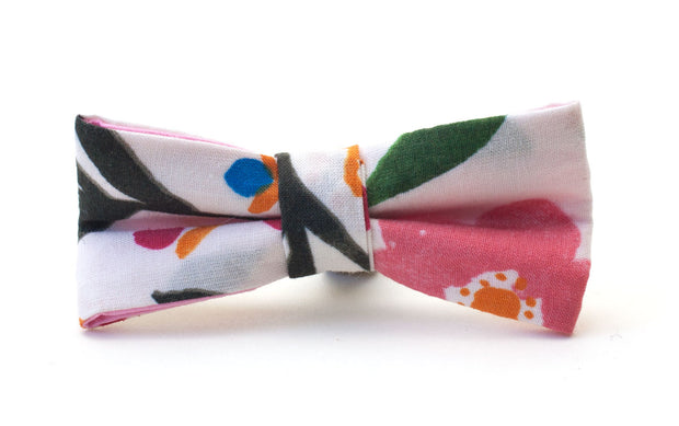 Pretty fabric dog dickie bow