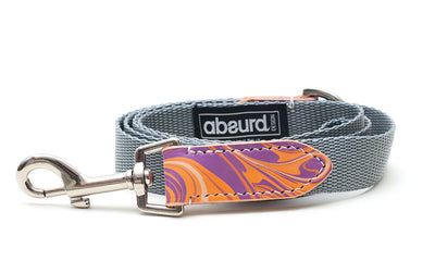 GroovyBaby Orange and Purple Dog Lead Leash