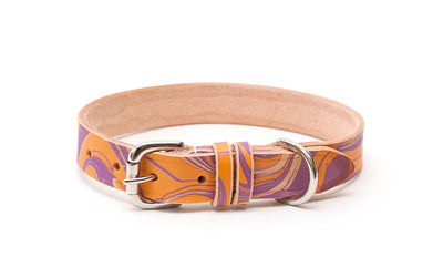Leather Dog Collar: GroovyBaby