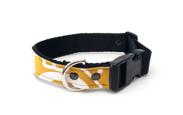Neoprene dog collar with strong side release buckle, D ring