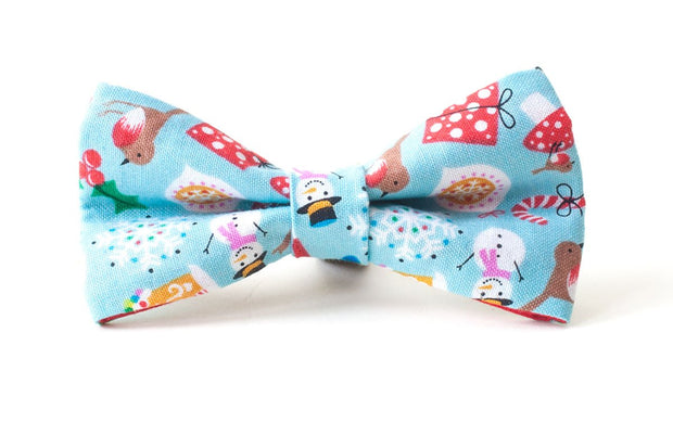 colourful Jolly-Holly Days Christmas fabric bow