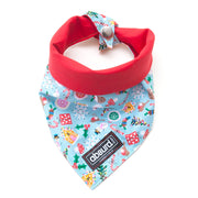 Jolly Holly Days reversible dog bandana for Christmas