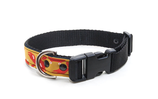waterproof dog collar with strong side release buckle, D ring
