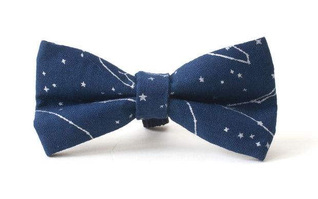 Navy stylish dog bow: Polar Star