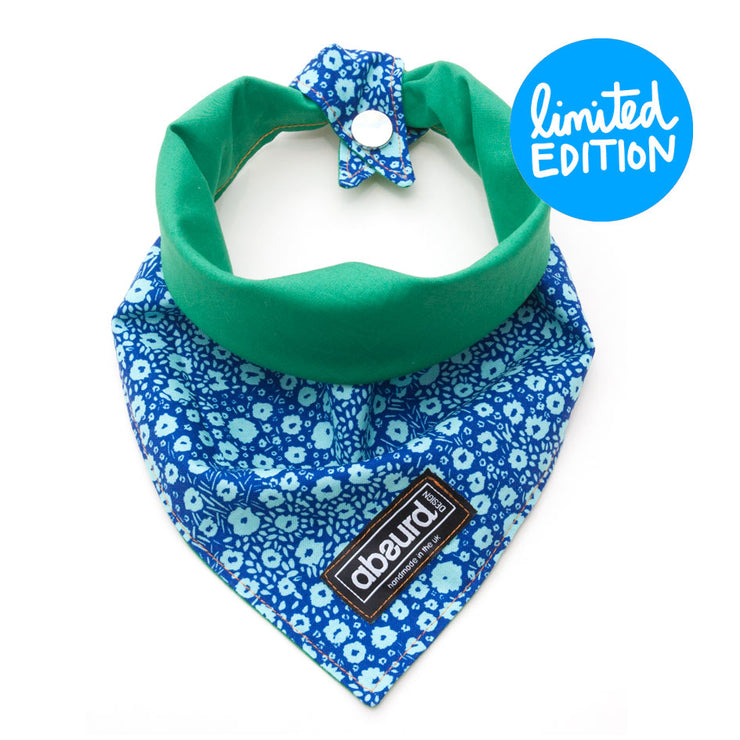 reversible dog bandana press stud or tie fastening
