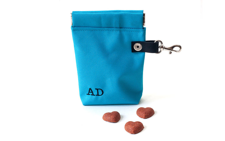 Dog Poop Bag Holder & Dog Treat Bag: Red
