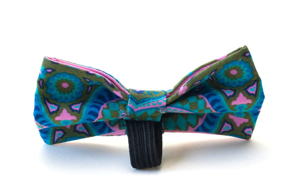 Mystic Meg fabric bow attaches with elastic loop